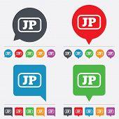 Vector Japanese language sign icon. JP translation