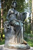 Bronze Sculpture Thalia, Muse Of Comedy, Pavlovsk Park