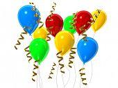 3d rendered illustration of celebration balloons