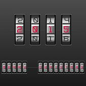 2015 Merry Christmas. Combination Lock. Vector.