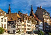 Buildings On Kleber Square In Strasbourg, Alsace, France