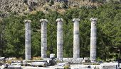 Ancients Columns in Priene, turkey