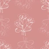 Seamless Pattern With Callas. Vector Illustration