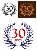 30 Years Anniversary laurel wreath