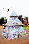 Art christmas tree