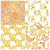 Set of bakery seamless patterns