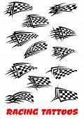 Checkered flags tattoos