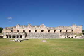image of quadrangles  - Ruins of the Nunnery Quadrangle Uxmal Mexico - JPG