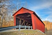 image of yesteryear  - Built in 1922 the Edna Collings Covered Bridge is one of nine historic spans in Putnam County Indiana - JPG