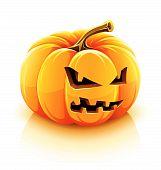 angry Jack-O-Lantern halloween pumpkin