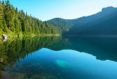 image of rocky-mountains  - Lake in Rocky mountains - JPG
