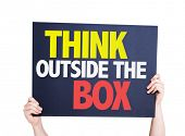picture of thinking outside box  - Think Outside the Box card isolated on white - JPG