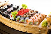 stock photo of sushi  - Japanese cuisine - JPG