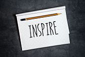picture of storyboard  - Inspire Creative Writing Concept With Pencil and Notepad on Table Top View - JPG