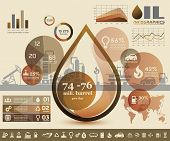 image of process  - oil and gas industry infographics extraction processing and trasportation - JPG