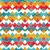 image of zigzag  - colored zigzag seamless pattern  - JPG