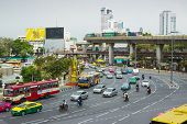 Постер, плакат: Big Traffic Flows On Roads Bangkok