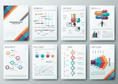 stock photo of graph paper  - Set of Flyer - JPG