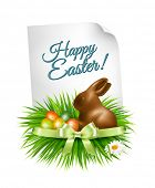 image of easter eggs bunny  - Happy Easter background - JPG