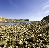 lulworth cove dorset coast england