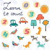 pic of bird-dog  - Set of cute graphic elements  - JPG