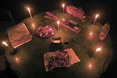 pic of shiva  - detail of worship during Shiva Ratri Hindu ceremony - JPG