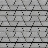 pic of slab  - Gray Paving Slabs in the Form Trapezoids - JPG