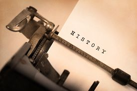 picture of old vintage typewriter  - Vintage inscription made by old typewriter History - JPG