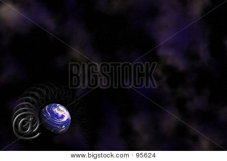 Email And Earth Background poster