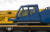 foto of truck-cabin  - A cabin with the driver seat on a industrial crane - JPG
