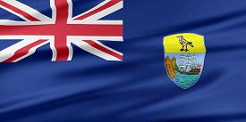picture of ascension  - Saint Helena Ascension and Tristan da Cunha Flag - JPG