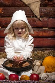 stock photo of stepmother  - The girl in the peasant - JPG