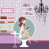 foto of young adult  - relax at the cafe - JPG