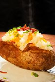 Steaming loaded Baked Potato