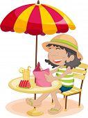 Illustration of a summer lunch break