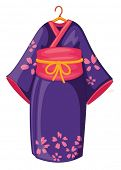 illustration of the Japanese kimono