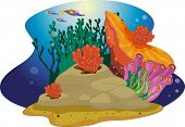 coral reef cartoon illustration