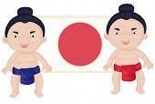 sumo wrestlers (vector available in portfolio)