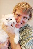 Mann und cat