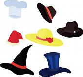 illustration of a hats on a white background