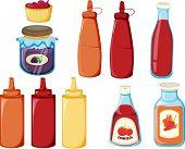 illustration of a bottles on a white background