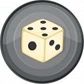 Illustration of dice on a white background