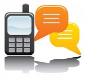 Phone and Chat Vector Icon