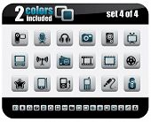 Web Icons Set. Steelo Series. Set 4 of 4.