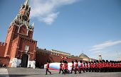 MOSCOW - MAY 9: 1st Battalion Welsh Guards. Military Parade on 65th anniversary of Victory in Great