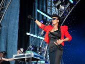 ARKHANGELSKOE - JUNE 6: Zap Mama. 7th International Jazz Festival