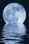 stock photo of full_moon  - True full April moon  - JPG