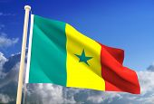 Senegal Flag (Clipping Path)
