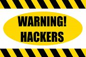 Warning Pc And Computer Hacker And Hackers Ahead