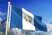 Guatemala Flag (Clipping Path)